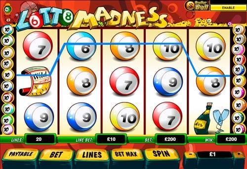 Выигрышная последовательность с Wild в аппарате Lotto Madness