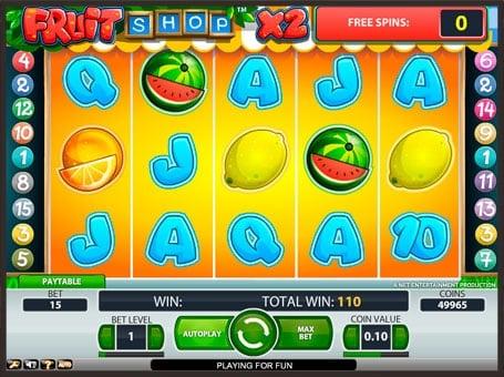 Фриспины в игровом автомате Fruit Shop