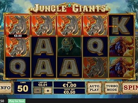 Выигрышная комбинация на линии в автомате Jungle Giants