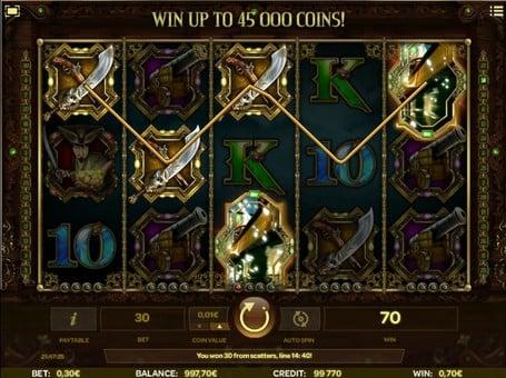 Выигрышная комбинация символов в автомате Skull of Legends