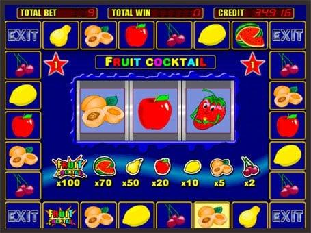 Бонус раунд в автомате Fruit Cocktail