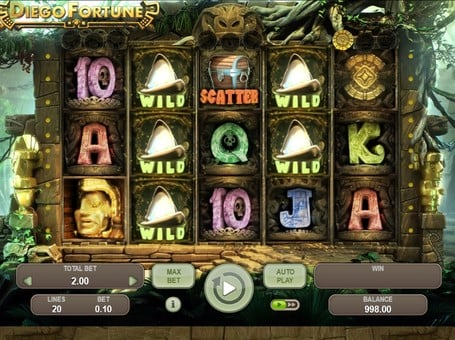 Дикие знаки в игре Diego Fortune