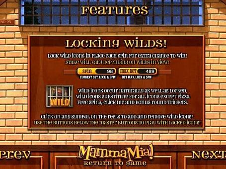 Wild игре Mamma Mia