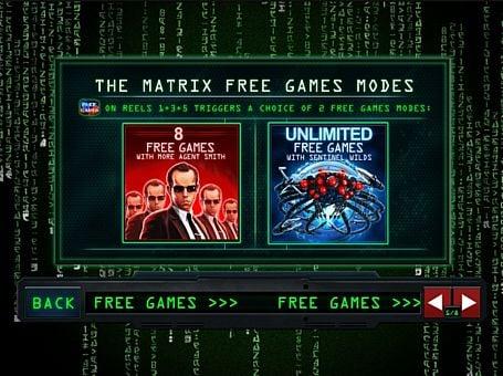 Фриспины в игре Matrix