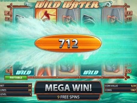 Крупный выигрыш в слоте WIld Water