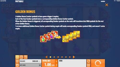 Получение бонусов со скаттерами игровом аппарате Gold Lab