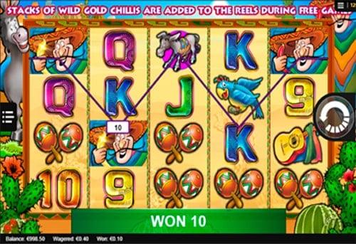 Удачная последовательность в игровом автомате Chilli Gold