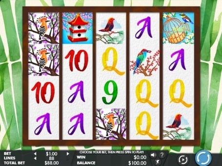 Символы игрового аппарата Birds and Blooms