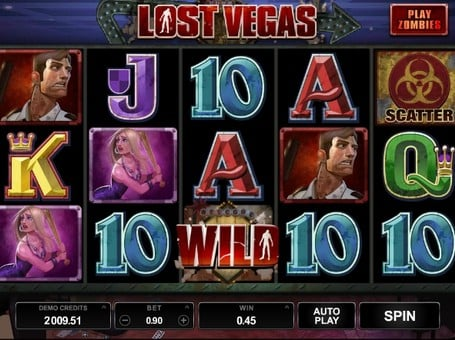Дикий символ и скаттер в игровом автомате Lost Vegas