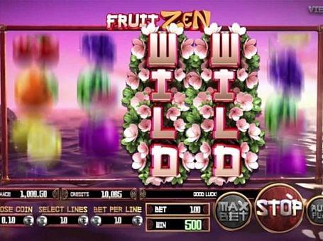 Дикий знак в онлайн слоте Fruit Zen