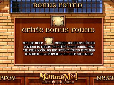 Бонусая игра в онлайн слоте Mamma Mia