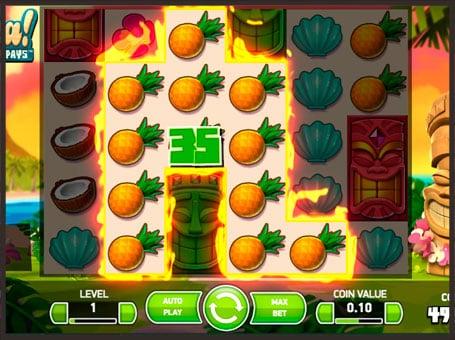 Выигрыш в онлайн автомате Aloha