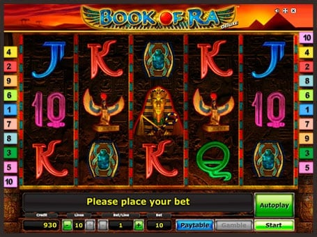 Символы игрового автомата Book of Ra Deluxe