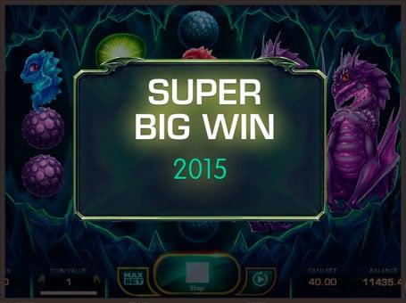 Супер выигрыш в автомате Draglings