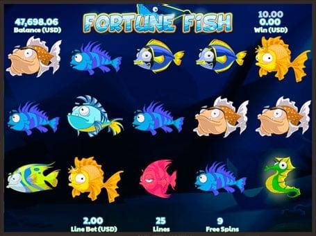 Символы в автомате Fortune Fish