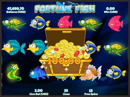 Выигрыш в игровом автомате Fortune Fish