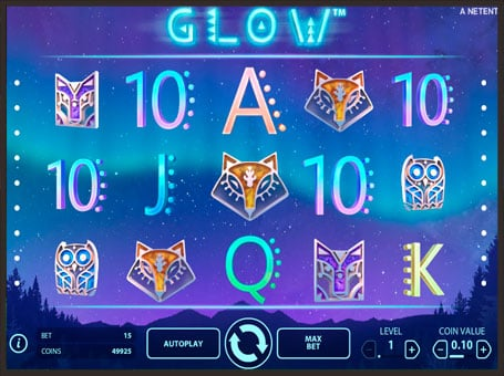 Символы игрового аппарата Glow