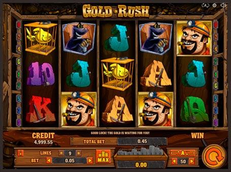 Символы в игровом автомате Gold Rush