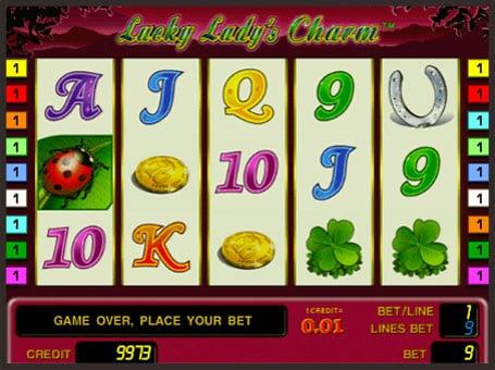 Символы игрового автомата Lucky Lady's Charm