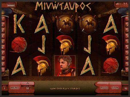 Символы игрового автомата Minotaurus