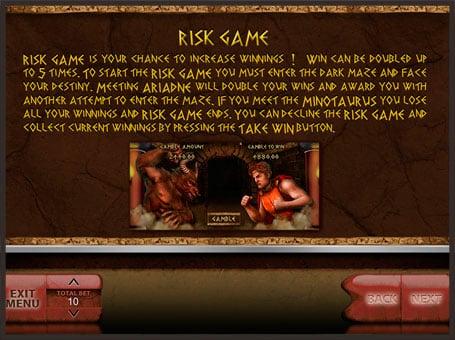 Правила риск игры в автомате Minotaurus