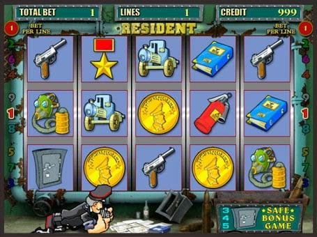 Символы игрового онлайн автомата Resident