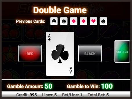 Риск игра в онлайн автомате Sizzling Hot Deluxe