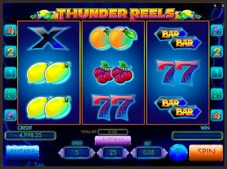 Барабаны игрового автомата Thunder Reels