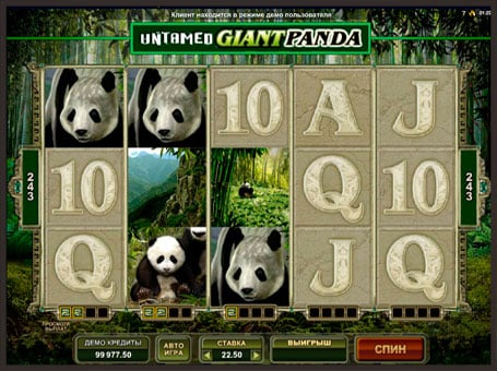Символы игрового аппарата Untamed Giant Panda