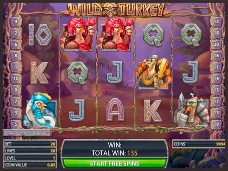 Символы в онлайн аппарате Wild Turkey
